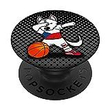 Dabbing Husky Perro Baloncesto de la República Checa Bandera PopSockets PopGrip: Agarre intercambiable para Teléfonos y Tabletas