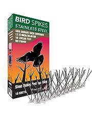 ASPECTEK Ahuyentar Palomas Anti Palomas Repelente de aves de Acero Inoxidable Kit de puas, 10 pies (3) Metros, Perfecta Disuasión Para Aves Pinchos Antipalomas (Sin pegamento)