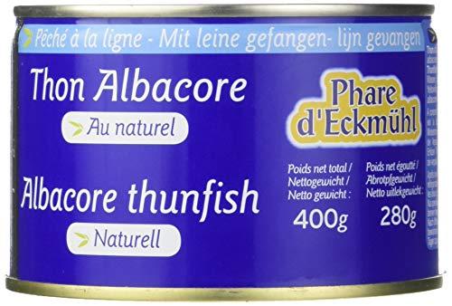 Phare d'Eckmül Thon Albacore Pêché Canne au Naturel Bio 280 g