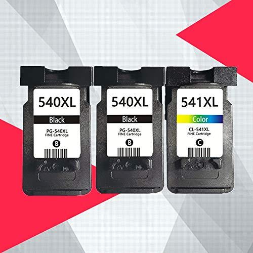 WIYP For Canon PG540 PG540 CL541 CL541 Cartuchos de Tinta PG 540 CL 541 PIXMA MG3255 MG3550 MG4100 mg3250 mg4150 mg4250 MG4200 PG-540XL (Color : 2BK 1COLOR)
