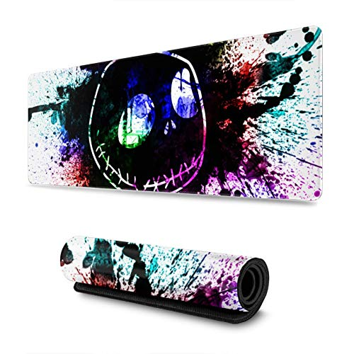 Fgn The Nightmare Before Christmas Large Extended Gaming Mouse Pad Mat, Stitched Edges, Ultra Thick 3 MM, Wide & Long Mousepad 31.5' X 11.8' X 0.12'