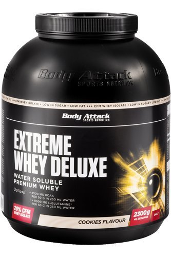 Body Attack Extreme Whey Deluxe, Amarena Cherry Cream, 1er Pack (1 x 1.8 kg)