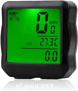 HEALTHLL Bike Computer Bicycle Speedometer Bicycle Computer Digital Backlight Waterproof Odometer Clock Stopwatch Bike Accessories Iron Green