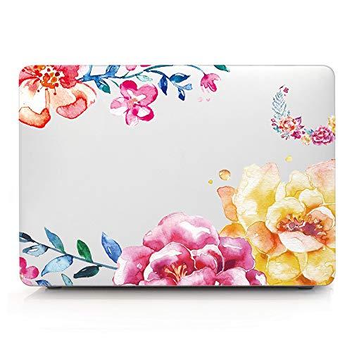 AJYX - Funda rígida compatible con MacBook Air de 13 pulgadas modelo A1466 / A1369, edición 2010-2017, diseño floral de plástico rígido Shell Case Cover F1 Crisantemo F31 rosso e rosa gialla A1706/A1708/A1989 (2016/2017/2018 Mac Pro 13)