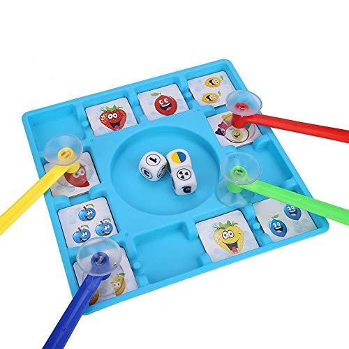 FTVOGUE Fruit Stick Suction Juguete Educativo Entre Padres e Hijos Juego de Mesa Interactivo para niños Mesa Juego de Rompecabezas Juguetes Monopoly