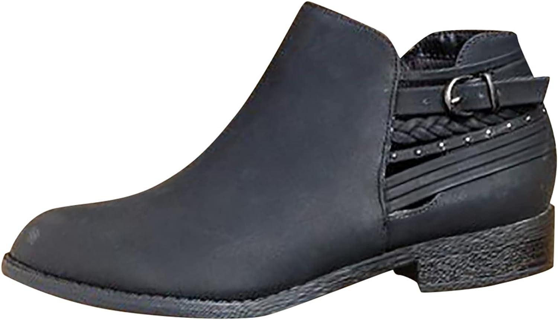 Boots For Women With Heel Women's Short Rain Boots Waterproof Slip On Ankle Booties