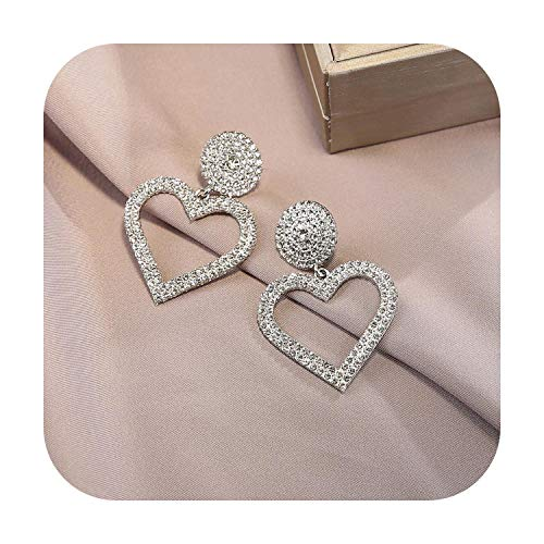 2020 New Korean Simulated Pearl Gold Color Girls Fashion Gift Glamour Sexy CZ Stone Heart Drop Dangle Earrings for Woman-63278-