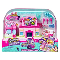 Use your key to unlock the secret small Mall! Playset includes a 3 level Supermarket, a 2 level fashion Boutique and a cool scoops ice cream truck! The grocery store has 3 levels to unlock, an elevator to the 2nd floor food court and a frozen aisle o...