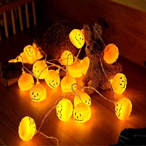 Foneso Kürbis Lichter, LED Lichterkette Schnur Kürbislaterne Festbeleuchtung Dekoration Kürbisse String Light für Halloween Weihnachten Ostern Gärten Häuser 3M 20LED
