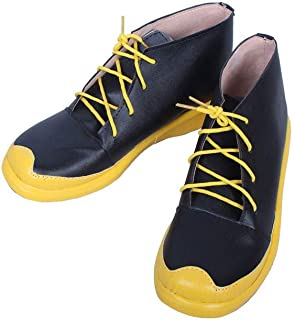 Anime Men's Re Life in A Different World from Zero Natsuki Subaru Black Halloween Cosplay Custom Shoes Boots