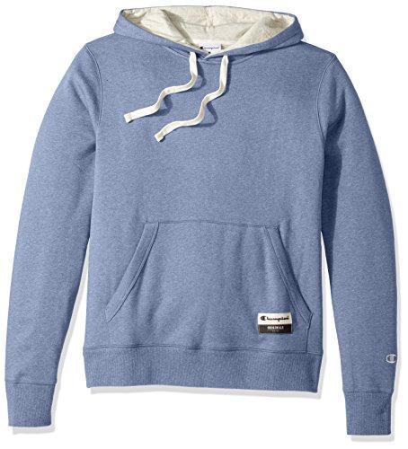 Champion Men's Authentic Original Sueded Fleece Pullover Hoodie, Blue Jazz Heather, Large
