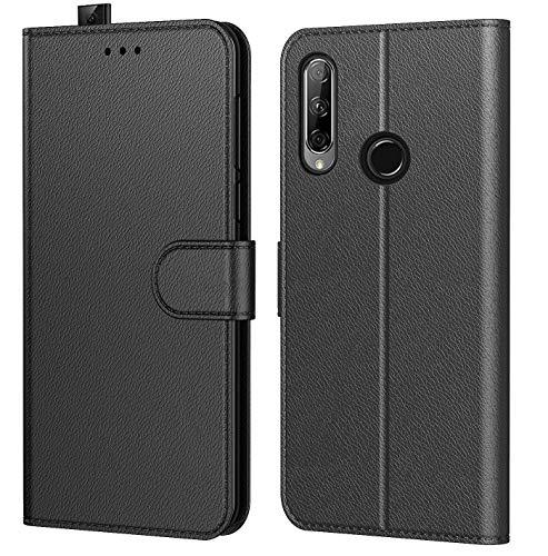 Tenphone Etui Coque pour Huawei Honor 9X, Protection Housse en Cuir PU Portefeuille Livre,[Emplacements Cartes],[Fonction Support],[Languette Magnétique] pour (Honor 9X (6,59 Pouces), Noir)