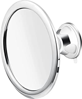 360 Rotation Fogless Shower Mirror,Shaving Mirror with Holder Suction Cup Wall Mounted Cosmetic Mirror for Shaving