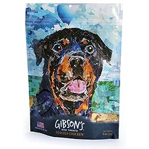 Gibson's Toasted Chicken – Human Grade USA Soft Jerky Dog Treats, 3 oz