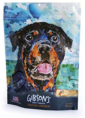 Gibson's Toasted Chicken - Human Grade USA Soft Jerky Dog Treats, 3 oz