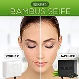 Natürliche Schwarze Seife I Bambuskohle Handgemachte Seife I Naturseife reinigt Ihre Haut porentief I Entschlackender Gesicht & Körperreiniger I Gegen Akne Ekzem I Naturprodukt von Tillmann's - 2