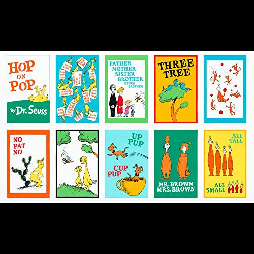 Dr. Seuss Hop on Pop - Book Pages in Bright - Sold by The 23' Panel