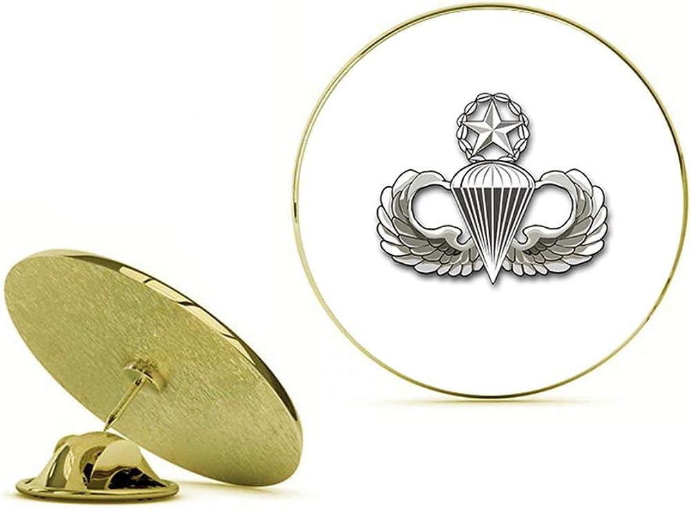 HOF Trading Gold US Army Master Parachutist Gold Lapel Pin Tie Suit Shirt Pinback
