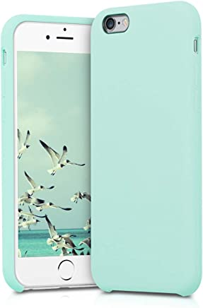 kwmobile silicone cover case for Apple iPhone 6/6S - TPU Case with rubber cover - Cover in Mint Matte