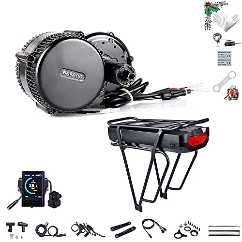 BAFANG Electric Bike Mid Drive Motor de manivela BBS02B 36V 500W DIY Kit de conversión de Bicicleta 8FUN Mid Kit de Motor