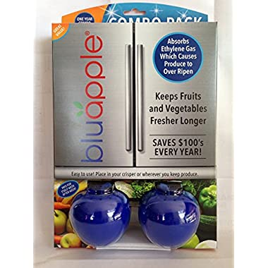 Bluapple One Year Combo Pack Produce Freshness Extender for Fresh Fruits and Vegetables to Extend the Life of Produce