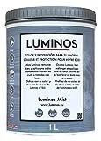 Luminos LUM1101 - Mist - Lasur Protector Madera. Color Gris Niebla. 1L