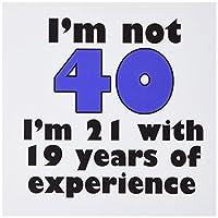 EvaDane–面白い引用–Im Not 40。ブルー。–グリーティングカード Set of 6 Greeting Cards