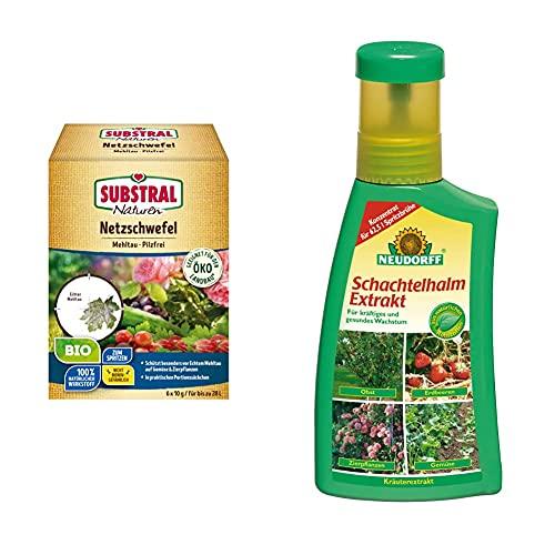 Naturen Bio Netzschwefel MehltauPilzfrei, Biologisches Spritzpulver gegenpilzlichePflanzenkrankheiten an Obst und Zierpflanzen, 6 x 10 g Portionsbeutel & Neudorff 265...