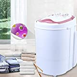 Aohuada 2-in-1 Mini Waschmaschine Camping Waschautomat Dehydration Mini-Waschmaschine 6KG Tragbar Wäsche Trockner 240 Watt Gold/Rosa Washing Machine (Gold)