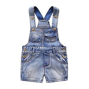 Baby & Little Boys/Girls Cute Bib Denim Short Overalls