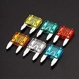 Fusible Plano 60pcs / Set Mini Hoja fusibles del Coche del Carro de fusibles Surtido del Kit de la 5A 10A 15A 20A 25 / 30A para Vehículos (Color : A-02)
