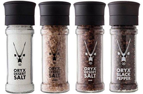 Natural Max 89% OFF Desert Ultra-Cheap Deals Salt Smoked Wine Refillable Pepper Black Grin
