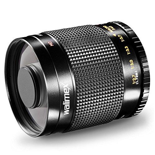 Walimex 500 mm 1:8.0 CSC - Objetivo para Sony E (Distancia Focal Fija 500mm, Apertura f/8, diámetro: 30.5 mm), Negro