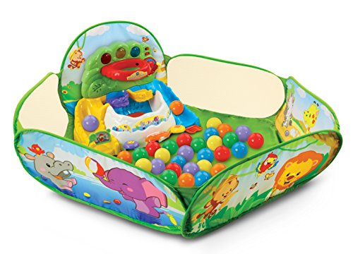 VTech Pop-a-Balls Drop and Pop Ball Pit, Green