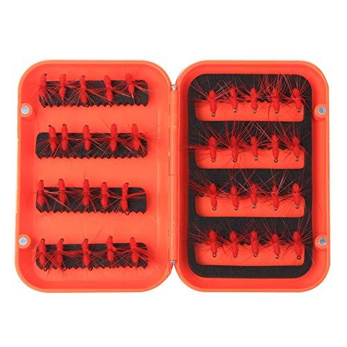 Hongma Fischköder Set Angelnköder Ameise Form Schwarz Rot für Angeln MEHRWEG Red