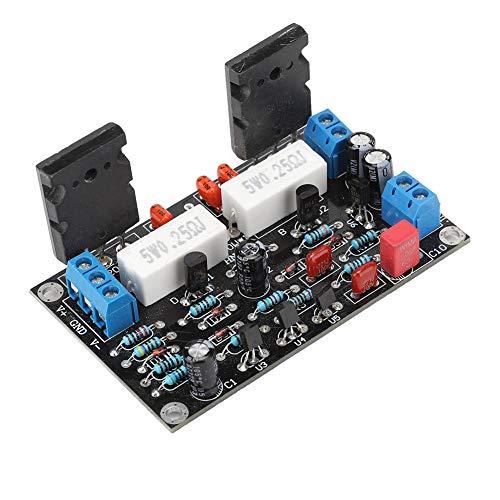 Tablero amplificador de potencia 2SC5200 + 2SA1943 de 100 W con bajo nivel de ruido, doble amplificador de potencia de CC 10-45 V CC doble Tableta de amplificador de potencia de 35 V con protección de