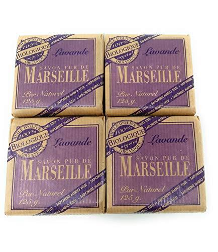 4 zeep Marseille lavendel