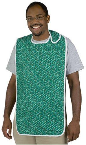 DMI Adult Bib, Waterproof Bib For Adults, Adult Clothing Protector, Green Print