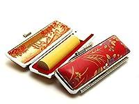「アカネ印鑑12.0mm×60mm赤ローケツケース(D-4)付き」 横彫り 篆書体