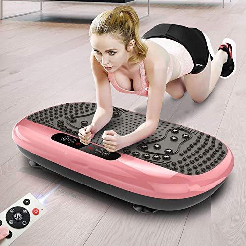 Topashe Vibrationsplatte Magnetfeldtherapie Massage,Stehendes Gewichthebergerät, Fitnessmotivation-Gold,Fitness Vibrationsplatte