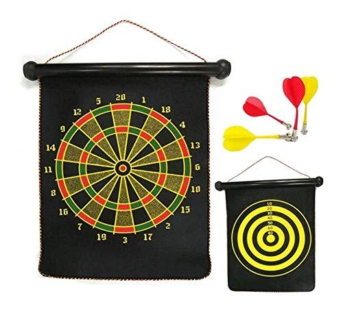 VSHT Kids Interactive Toy Magnetic Sicherheit Dartboard Sets 8 Reversible Darts Rollen doppelseitiges Bullseye Spiel Familie Freizeit Sport Lernspielzeug for Kinder 714 (Size : 39 * 32cm)