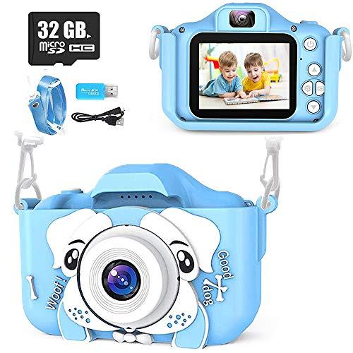 Yicente Cámara para Niños 1080P HD Fotos Cámara Juguete para Niños Selfie Video Cámara Infantil Regalos Cumpleaños para Niños con Tarjeta TF 32GB Cámara para Niños Recargable Regalos para Navidad