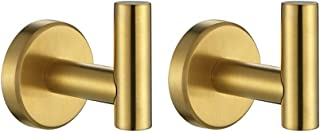 JQK Bath Towel Hook, SUS 304 Stainless Steel Coat Robe Clothes Hook for Bathroom Kitchen Garage Wall Mounted(Pack of 2), P...