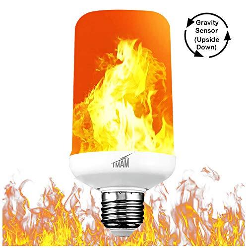 LED Flame Effect Light Bulb - LED Flickering Flame Light Bulbs, Simulated Decorative Light...