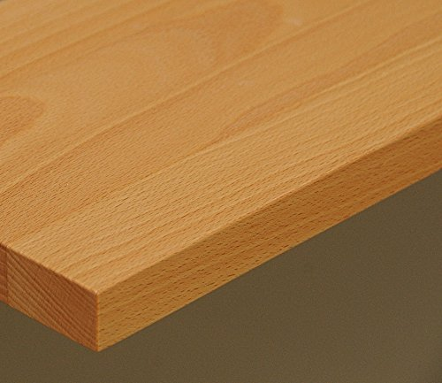 TISCHPLATTE Holz massiv Buche 25mm geölt oder unbehandelt, Esstisch Couchtisch (Holz unbehandelt, 90 x 60)