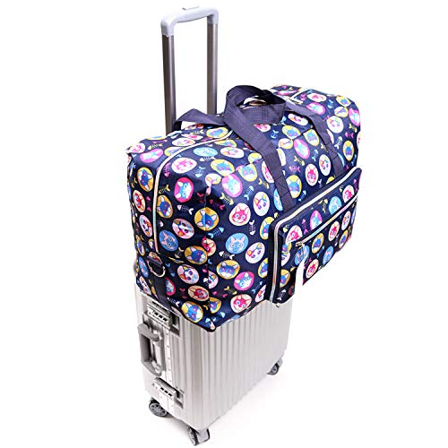 Womens Foldable Travel Duffel Bag 50L Large Cute Floral Travel Bag Hospital Bag Weekender Overnight Carry On Bag Checked Luggage Tote Bag For Girls Kids (cat)