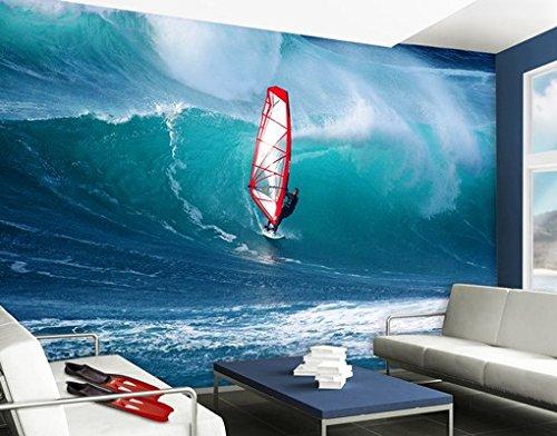 Apalis Selbstklebende Fototapete The Surfer Tapete Meer Ozean Surfer Welle Surfen, Größe:270cm x 72cm
