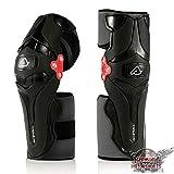 Rodilleras para motocross, Acerbiss, X-Strong, color negro