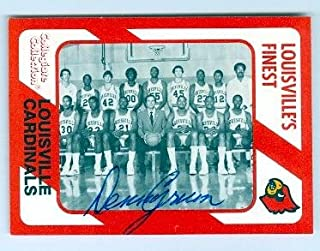 1982 1983 Louisville Cardinals Basketball Team Card autographed by Coach Denny Crum 1989 Collegiate Collection #205