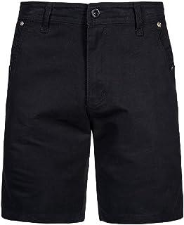 Macondoo Men's Trousers Men Straight Ripstop Casual Slim Solid Cargo Shorts